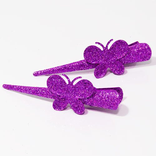 Bright Glitter Beaks with Butterflies - Pair
