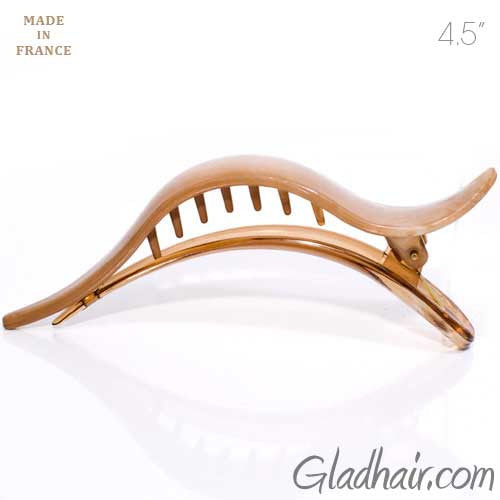 French Cream Color Salon Beak Clip with Hump