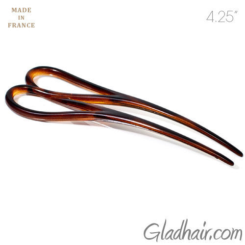 French Tortoise Plastic Double Twist Hair Pin