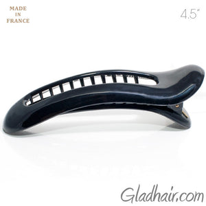 French  Large Open Oval Curved Fork Beak Plastic Salon Clip