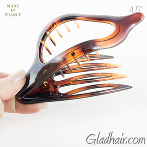 Oval Shaped Tortoise Shell Duck Beak Clip