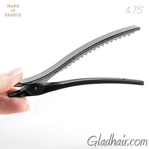 French Black Plastic Salon Beak Clip - 1 piece