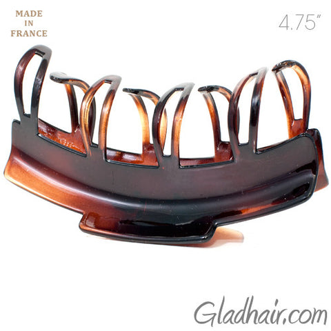 French Patented Design Skip Teeth Plastic Hair Claw