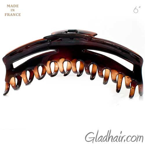Extra Large Patented French Tortoise Plastic Hair Claw