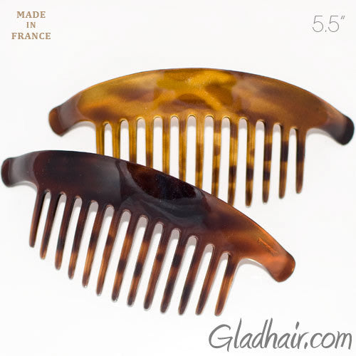 Large Interlocking Combs Pony Tortoise Shell - Pair