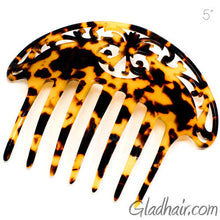 Load image into Gallery viewer, Large Hand Made Cut Back Italian Plastic Hair Comb
