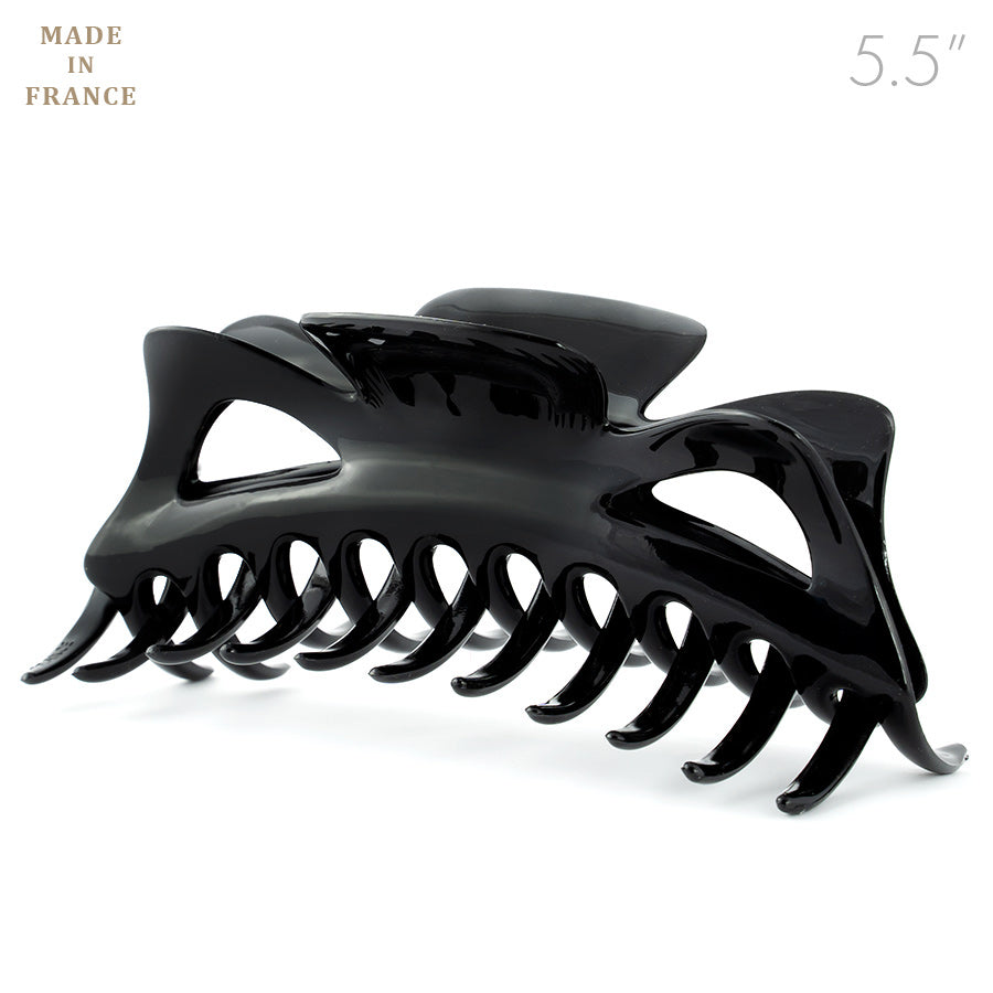 Extra Large French Plastic Black Hair Claw