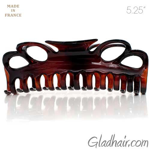 Extra Large French Plastic Tortoise Hair Claw