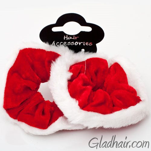 Velvet Christmas Scrunchies - Set of 2