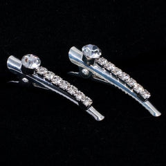 Crystal Bar Mini Hair Beaks - Pair