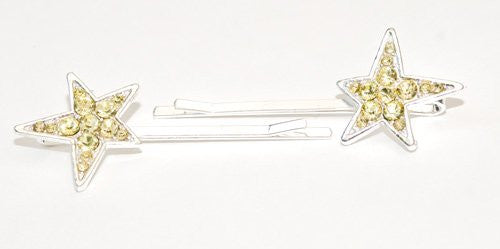 Crystal Star Bobby Pins - Pair