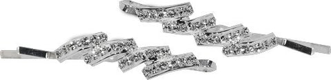 Crystal Stone Mountains Swarovski Bobby Pins - Pair
