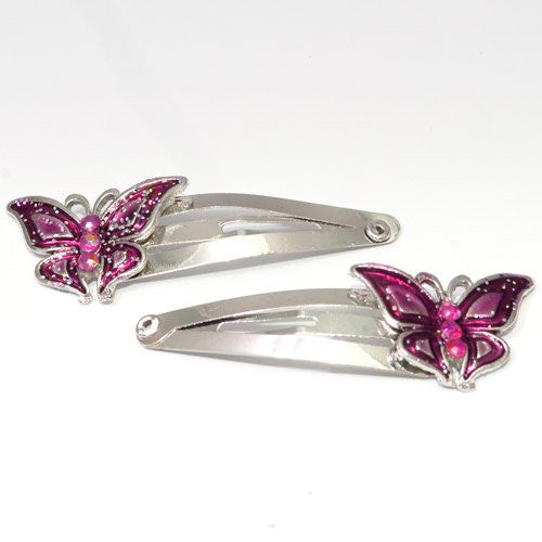 Epoxy Butterfly Shaped Metal Sleepies - Pair