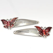 Load image into Gallery viewer, Epoxy Butterfly Shaped Metal Sleepies - Pair