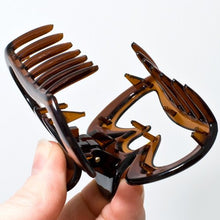 Load image into Gallery viewer, French Crown Shaped Tortoise Plastic Hair Claw