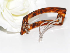 French Marble Rectangle Open Barrette