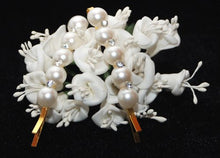 Load image into Gallery viewer, Gilt Grip with Pearl and Crystal Stones - Pair
