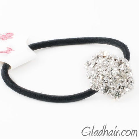 Glass Crystals with Rhodium Silver Finish Hair Band