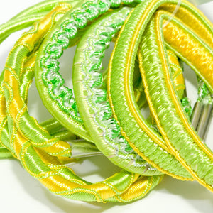Bright Citrus Colored Elastics - Pack of 12