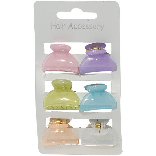 Pastel Colored Mini Clamps - Card of 6