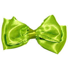 Bright Colored Double Satin Bow Beak Clip