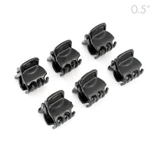 Load image into Gallery viewer, Mens Mini Black Plastic Clamps for Men Long Hair - Set of 6