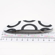 Load image into Gallery viewer, Black and White Design Barrette