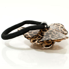Animal Print Acrylic Rose Scrunchie with Crystals