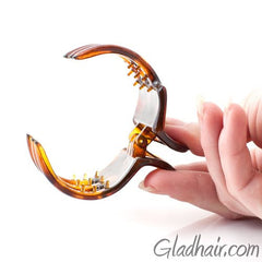 Medium Claw Clip Tortoise with Covered Spring