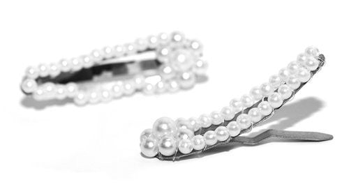 Mini Pearl Snap Hair Pins - Pair