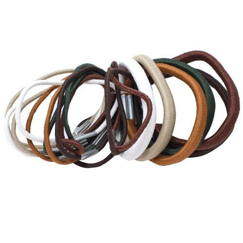 Natural Colored Elastics - Pack of 18