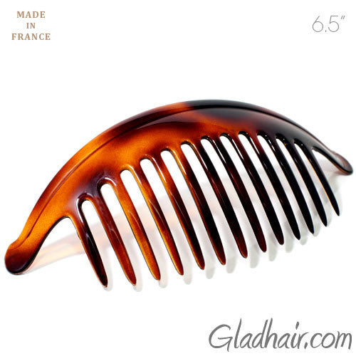 French Extra Large Interlocking Comb Pony Tortoise Shell - 1 Piece