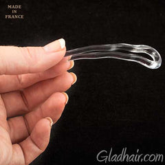 French Crink Clear Hair Pins - Pair