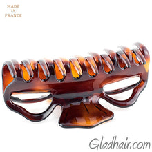 Load image into Gallery viewer, Large French Tortoise Plastic Hair Clip