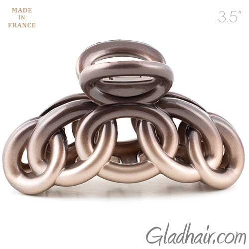 French Two Tone Circles Styles Hair Claw