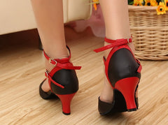 eazyfits Classic Black and Red Dancing Shoes for Women 5cm Heel