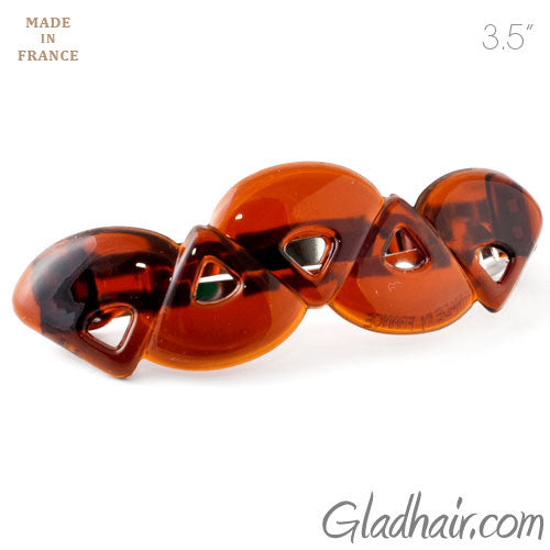 French Tortoise Plastic Triangles Barrette