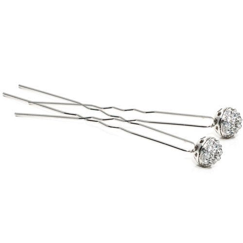 Silver Colored Hair Pins - Pair