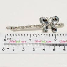 Load image into Gallery viewer, Silver Diamante Butterfly Grip - 1 piece