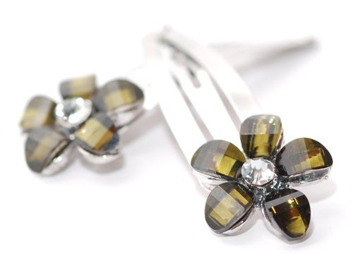 Silver Sleepies with Coloured Daisy Top - Pair