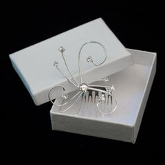 Silver Swirl Crystal Comb