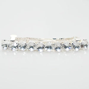 Single Line Crystals Barrette