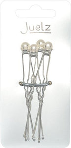 Single Pearl Hairpins - Card of 4