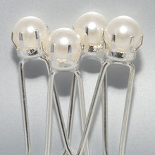 Load image into Gallery viewer, Single Pearl Hairpins - Card of 4