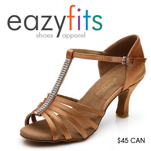eazyfits Classic Beige Dancing Shoes for Women 5cm Heel