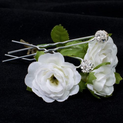 Swarovski Silver Colored Hair Pins - Pair