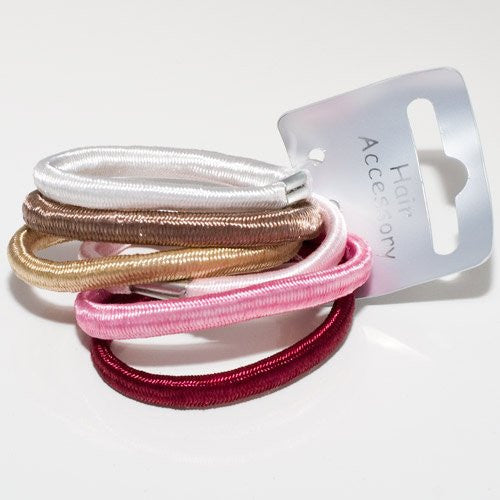 Tonal Shiny Elastics - Pack of 6