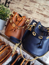 Load image into Gallery viewer, Leather Bucket Bag