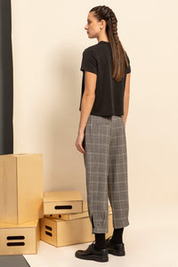 Namaste Checked Cropped Trousers