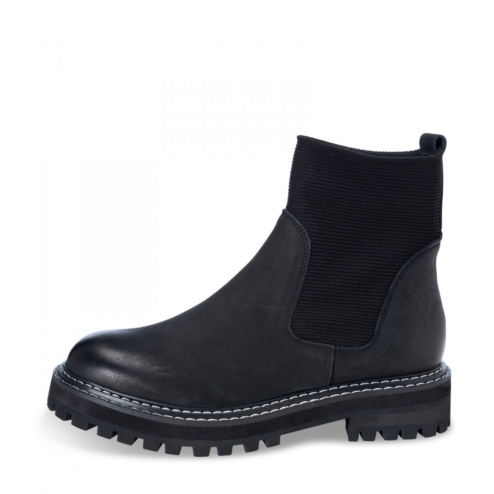 YAYA Chunky Leather Chelsea Boots